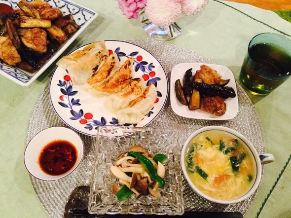 ヘルシーなおうち中華で夕食