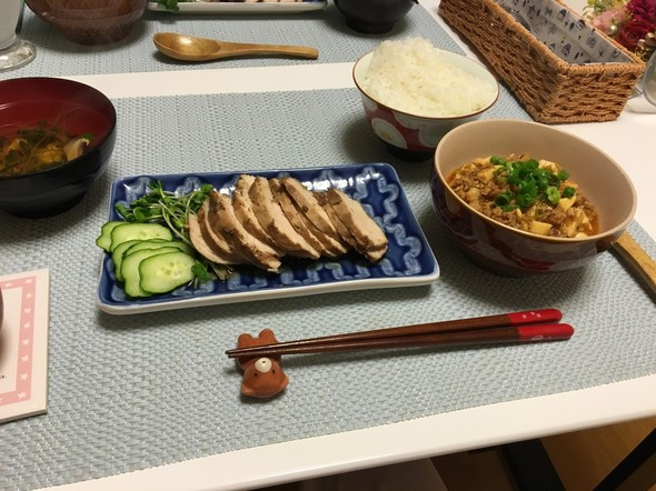 夕食*鶏胸肉の紅茶煮