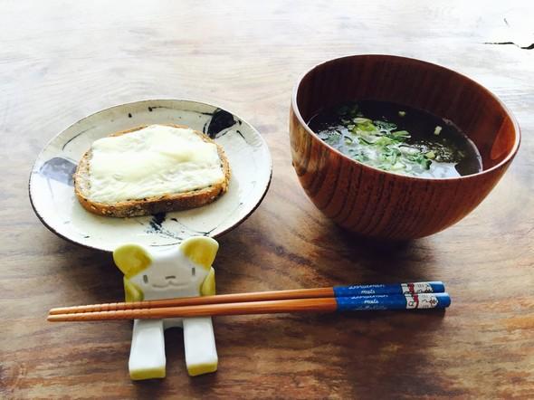 トースト&スープで朝ごパン♡
