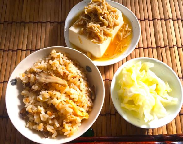 きのこが美味しい朝の和定食