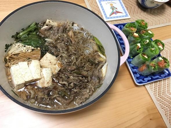 夕食*すき焼き