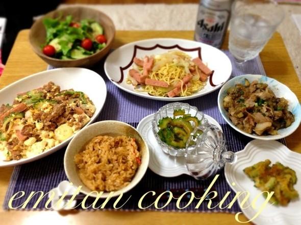 暑いぜッッ‼ゴーヤだ‼沖縄料理だぁー⁉✨