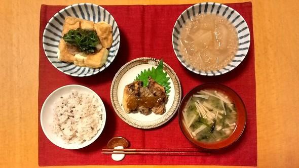 2016.11.19 和食な晩ごはん2