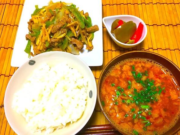 定番の中華☆青椒肉絲定食