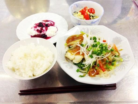白身魚の酒蒸し★野菜あんかけの定食