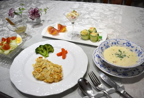 鱈のアーモンドフライで晩御飯♪