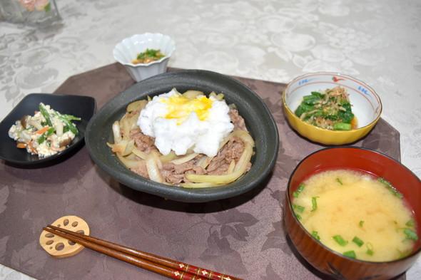 牛丼で晩御飯♪