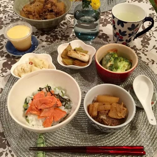 1日遅れの七草粥&鯖大根(受験生へ)