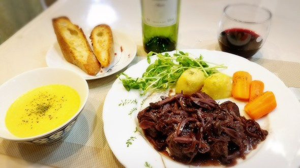 1/8☆牛肉の赤ワイン煮