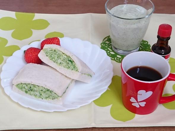 沼さん風サンドイッチでモーニング