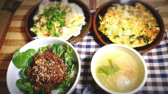 台湾風(?!)な料理で晩ごはん