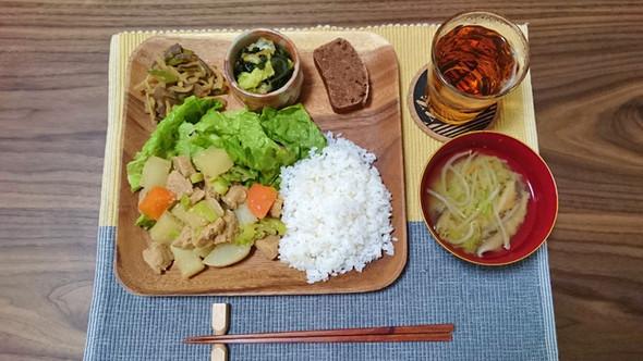 大根と大豆ミートの煮物