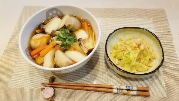 1/18♡けんちん蕎麦&おひたし