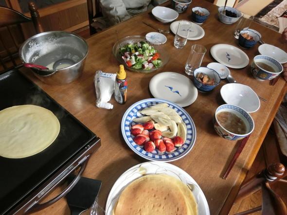 アヒージョとクレープでおばあちゃんとお昼