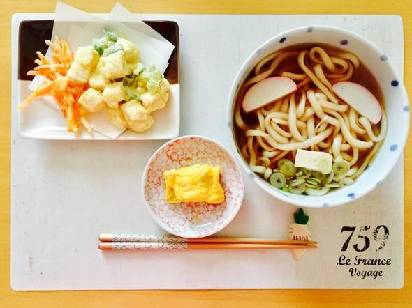 体にやさしい豆腐天の朝うどん