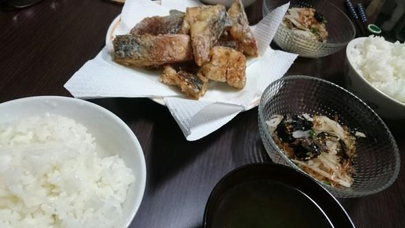 夕ご飯に!鯖の竜田揚げ