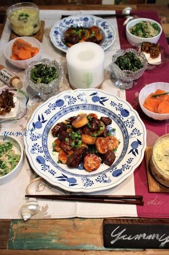 牛肉と山芋の炒め物de晩ごはん♪