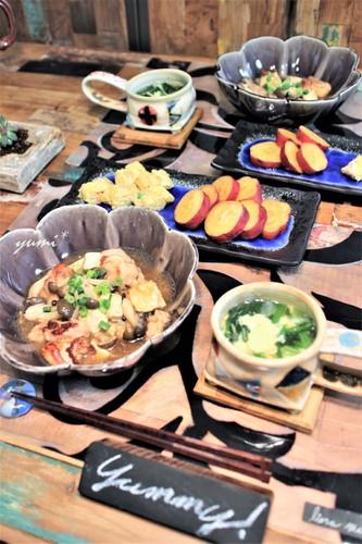 鶏肉と豆腐の生姜あんかけ煮de晩ごはん♪