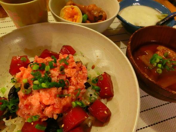 マグロ&ネギトロ丼(山かけつき)