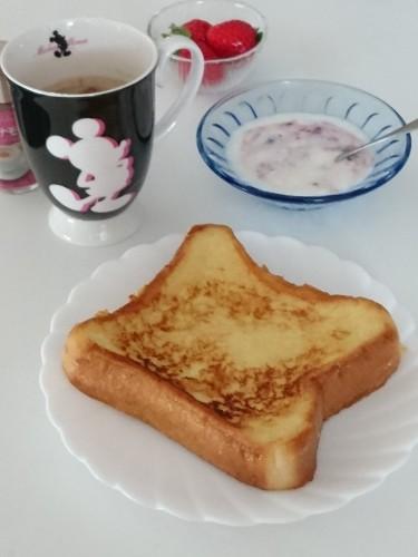 はちみつ生姜フレンチトーストで朝ごはん♪