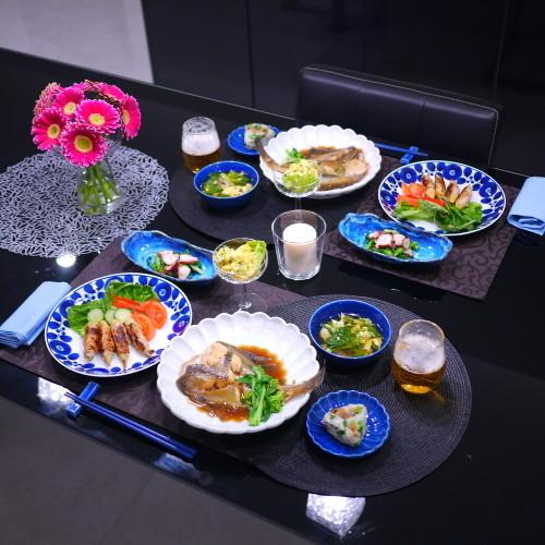 カレイ煮*南瓜サラダ*菜の花卵スープ