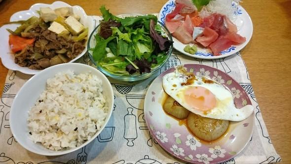 牛肉ウマタマの旦那の夕食