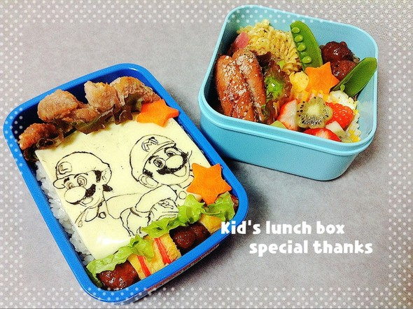 子供のお弁当*マリオとルイージ