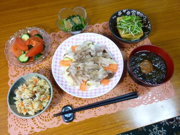簡単が絵になる野菜ボリュームいっぱい夕食