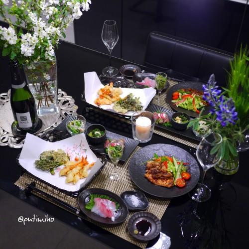 サクサク天ぷらとバルサミコレシピで晩ご飯
