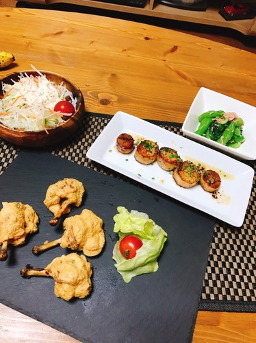 お肉と、タップリお野菜の晩御飯
