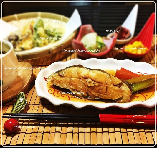 4/28 ✿カレイの煮つけ夕食✿