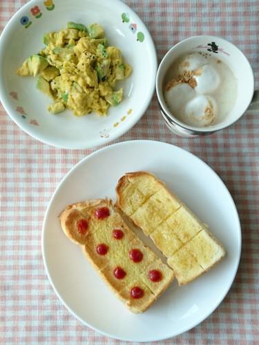 喫茶バターハニー&ちぎりパントースト朝食
