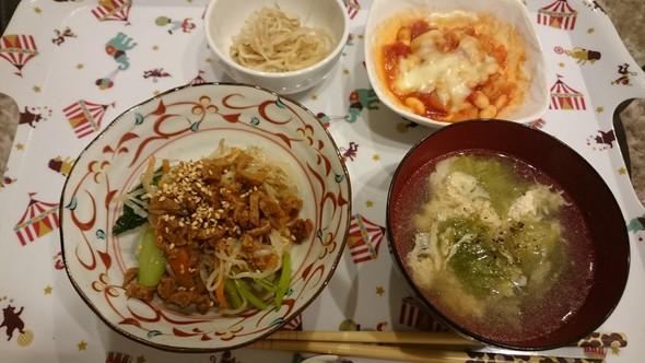 ビビンバ×レタスたまごスープ♡