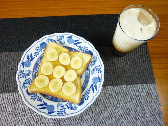 超簡単♪★バナナハニートースト★の朝食