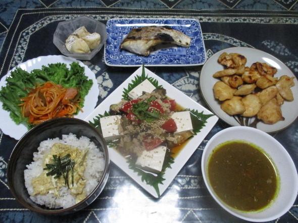 2017/5/25豆腐のサラダでお夕飯