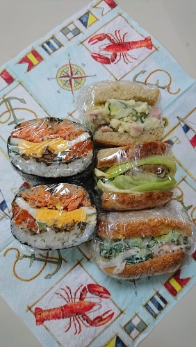 おにぎらず。サンドイッチ'17.7.21