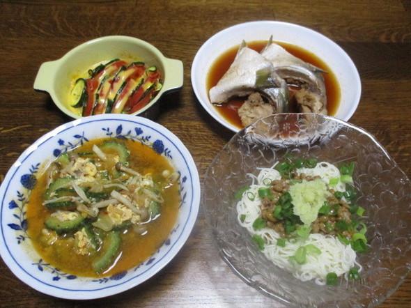 2017/7/27〆はさらっと素麺の夕食