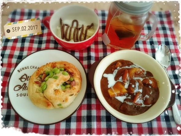昨日からの作り置きで☆休日遅めの朝食☆