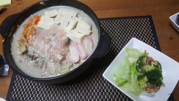 豆乳鍋で晩酌