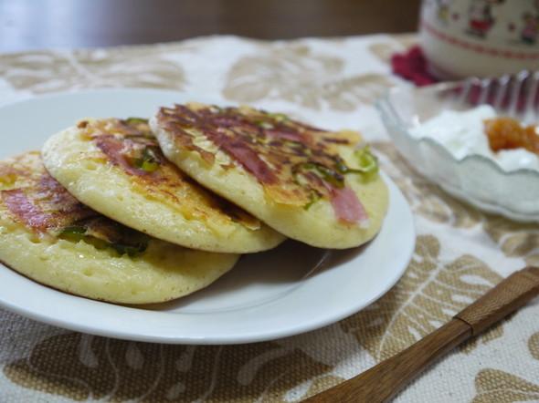 パンケーキde朝食.
