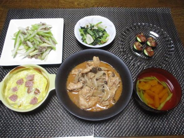 2017/9/8煮込チキンとみかん味噌汁
