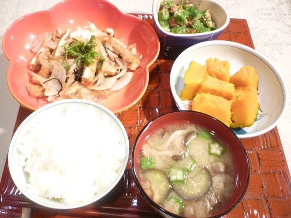 厚揚げと野菜たっぷりヘルシーな夕食☆