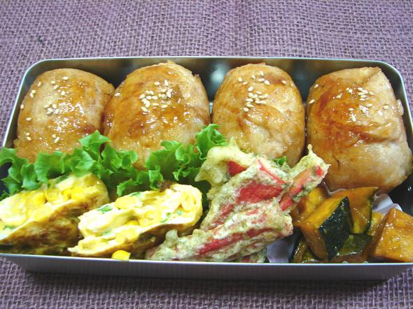 男子高校生弁当✿肉巻きおにぎり