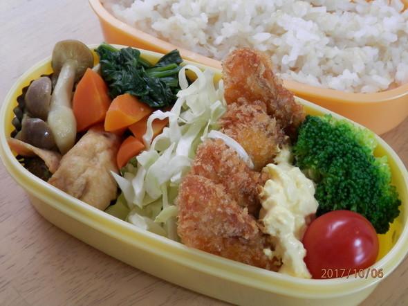 サクサク☆鮭フライのタルタル弁当♪