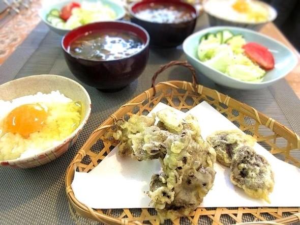 オッサンのブランチ ☆茸の天麩羅定食☆