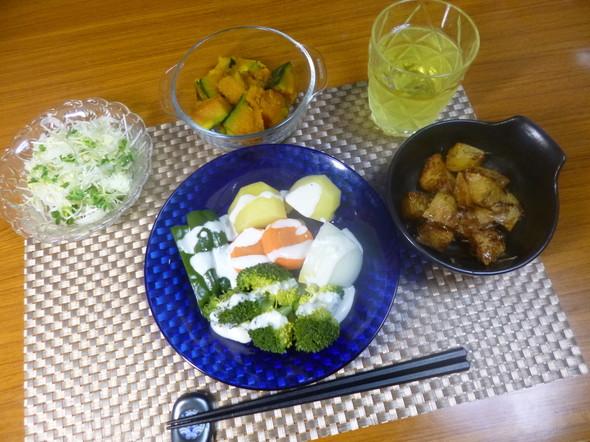 マイレシピ温野菜サラダと野菜のおかず達❤