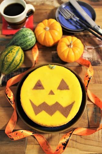 ハロウィン★かぼちゃチーズケーキ