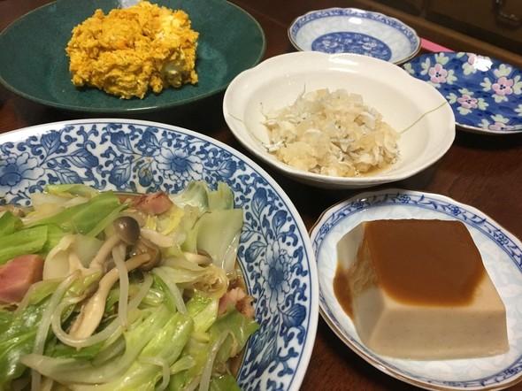 2017.10 給料日前の夕食