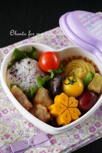 【幼稚園年少娘】薩摩芋好きには嬉しい弁当