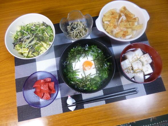 私の大好きなしらす丼(*^^*)の朝食❤